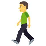 Person Walking on JoyPixels 4.0