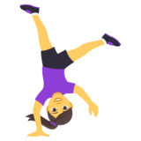 Person Cartwheeling on EmojiOne 4.0