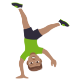 Person Cartwheeling: Medium Skin Tone on JoyPixels 4.0
