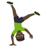 Person Cartwheeling: Dark Skin Tone on JoyPixels 4.0
