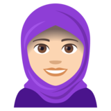 Woman With Headscarf: Light Skin Tone on JoyPixels 4.0