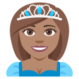Princess: Medium Skin Tone on JoyPixels 4.0