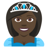 Princess: Dark Skin Tone on JoyPixels 4.0