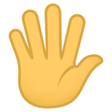Hand with Fingers Splayed on JoyPixels 4.0