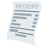 Receipt on JoyPixels 4.0