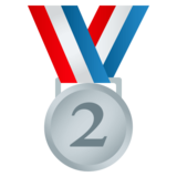2nd Place Medal on JoyPixels 4.0