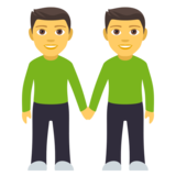 Men Holding Hands on EmojiOne 4.0