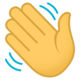 Waving Hand on JoyPixels 4.0