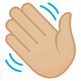 Waving Hand: Medium-Light Skin Tone on EmojiOne 4.0