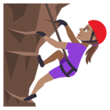 Woman Climbing: Medium Skin Tone on JoyPixels 4.0