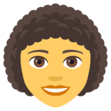Woman: Curly Hair on JoyPixels 4.0