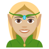 Woman Elf: Medium-Light Skin Tone on JoyPixels 4.0