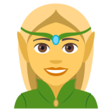 Woman Elf on JoyPixels 4.0
