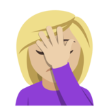 Woman Facepalming: Medium-Light Skin Tone on EmojiOne 4.0