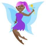 Woman Fairy: Medium-Dark Skin Tone on JoyPixels 4.0