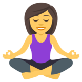 Woman in Lotus Position on JoyPixels 4.0