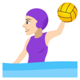 Woman Playing Water Polo: Light Skin Tone on JoyPixels 4.0