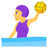 Woman Playing Water Polo on JoyPixels 4.0