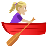 Woman Rowing Boat: Medium-Light Skin Tone on JoyPixels 4.0