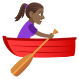 Woman Rowing Boat: Medium-Dark Skin Tone on JoyPixels 4.0