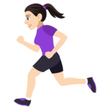 Woman Running: Light Skin Tone on JoyPixels 4.0