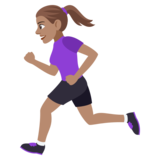 Woman Running: Medium Skin Tone on JoyPixels 4.0
