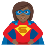 Woman Superhero: Medium-Dark Skin Tone on JoyPixels 4.0