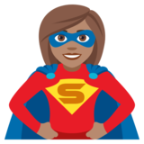 Woman Superhero: Medium Skin Tone on JoyPixels 4.0