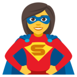 Woman Superhero on JoyPixels 4.0