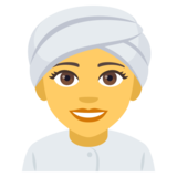 Woman Wearing Turban on JoyPixels 4.0