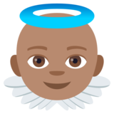 Baby Angel: Medium Skin Tone on JoyPixels 4.5