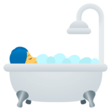 Person Taking Bath on EmojiOne 4.5