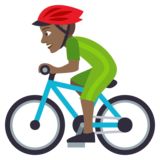 Person Biking: Medium-Dark Skin Tone on JoyPixels 4.5