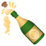 Bottle With Popping Cork on JoyPixels 4.5