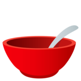 Bowl With Spoon on JoyPixels 4.5