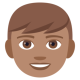 Boy: Medium Skin Tone on JoyPixels 4.5