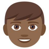 Boy: Medium-Dark Skin Tone on JoyPixels 4.5
