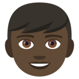 Boy: Dark Skin Tone on JoyPixels 4.5