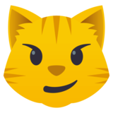 Cat with Wry Smile on JoyPixels 4.5