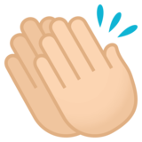 Clapping Hands: Light Skin Tone on JoyPixels 4.5