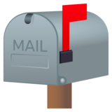 Closed Mailbox With Raised Flag on JoyPixels 4.5