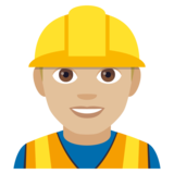 Construction Worker: Medium-Light Skin Tone on JoyPixels 4.5