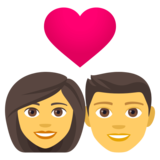 Couple with Heart: Woman, Man on JoyPixels 4.5