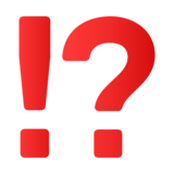 Exclamation Question Mark on JoyPixels 4.5