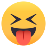 Squinting Face With Tongue on JoyPixels 4.5