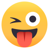 Winking Face With Tongue on JoyPixels 4.5