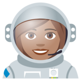 Woman Astronaut: Medium Skin Tone on JoyPixels 4.5