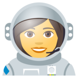 Woman Astronaut on JoyPixels 4.5