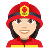 Woman Firefighter: Light Skin Tone on EmojiOne 4.5