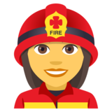 Woman Firefighter on JoyPixels 4.5